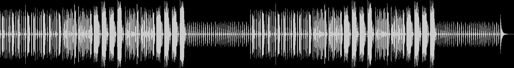 ポンコツ・コミカル・へっぽこ・リコーダーの未再生の波形