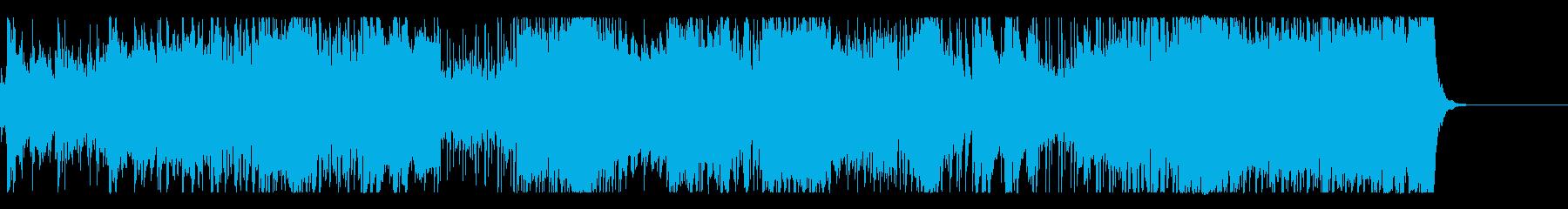 尺八をフューチャーした激しいロックの再生済みの波形
