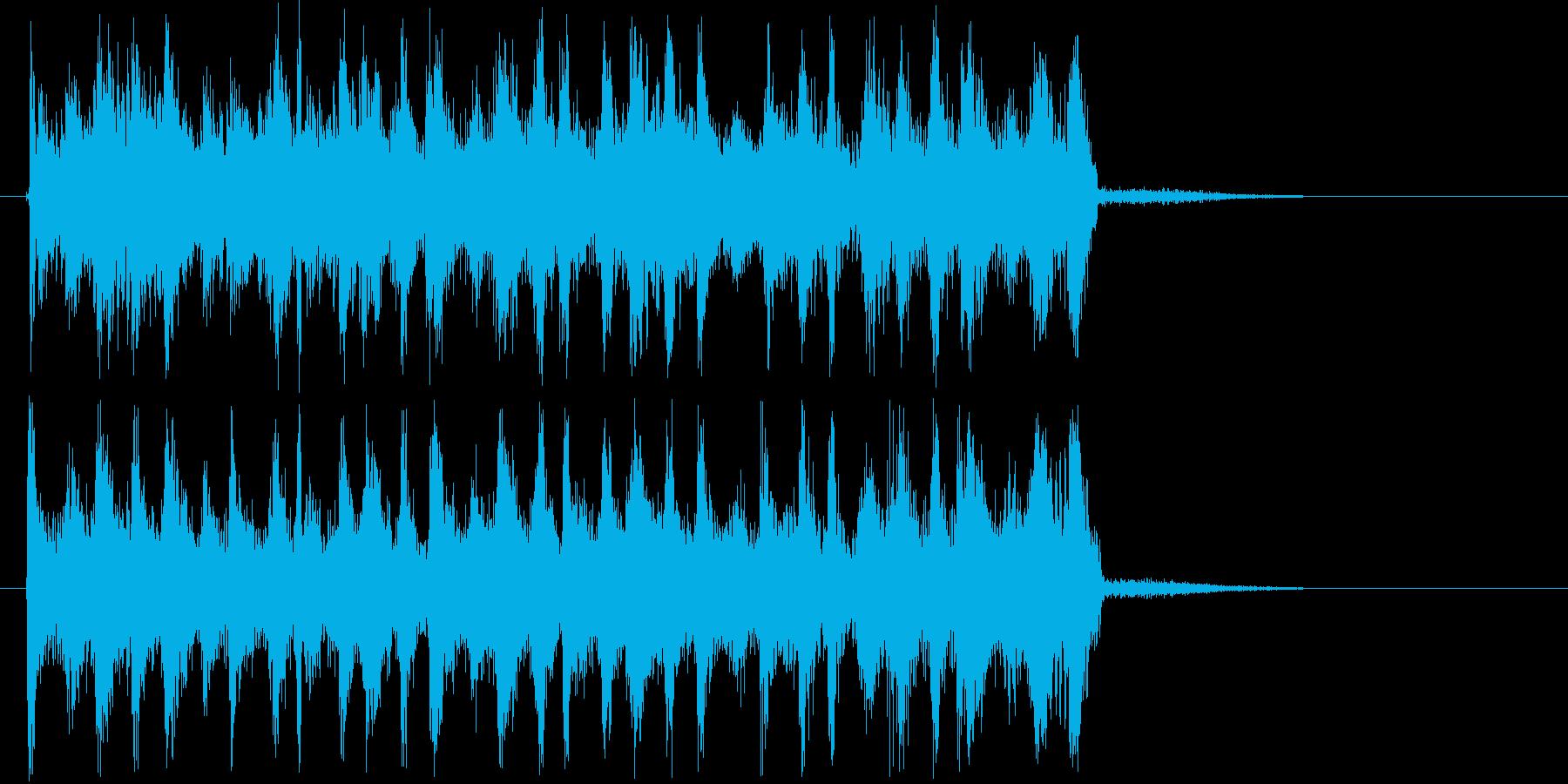 明るい印象ギタータンバリン短めジングルの再生済みの波形