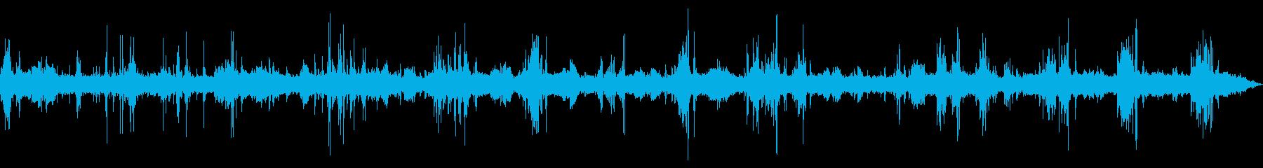 [生録音]工事現場01(大型重機)の再生済みの波形
