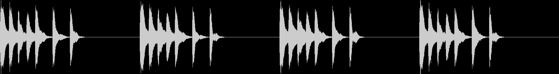 シンプル ベル 着信音 チャイム C17の未再生の波形