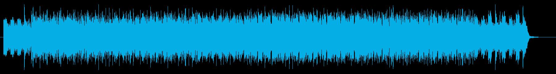 リズミカルでベースが印象的なロックの再生済みの波形