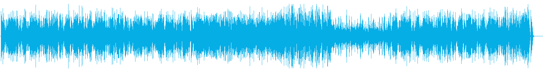 ピアノとベースのデュオの軽快なジャズの再生済みの波形
