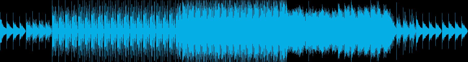 循環コードの爽やか4つ打ちEDMの再生済みの波形