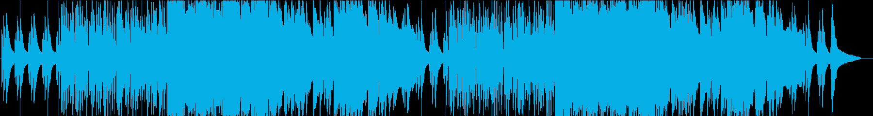 ピアノとサックスがおしゃれなBGMの再生済みの波形