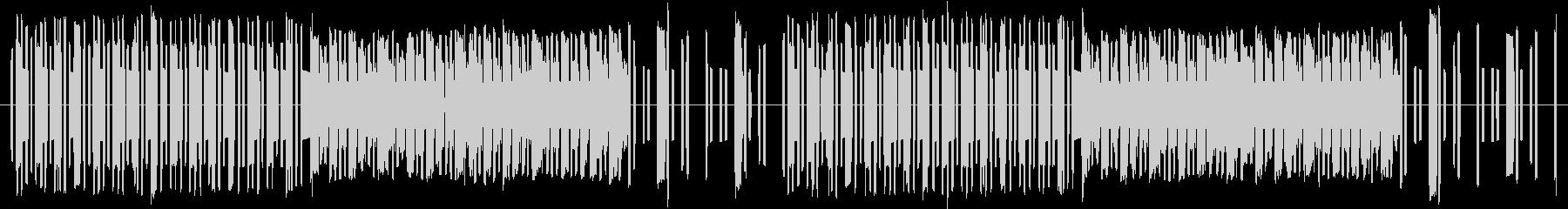8bit風コミカルBGMの未再生の波形