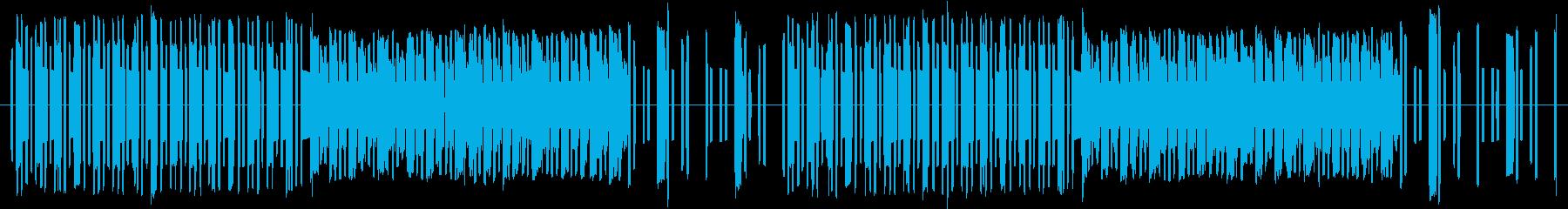 8bit風コミカルBGMの再生済みの波形
