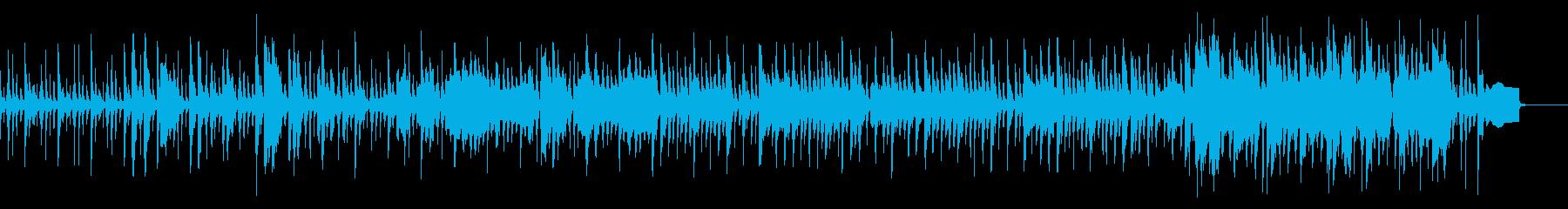 ほのぼのとした明るいギター伴奏の曲の再生済みの波形