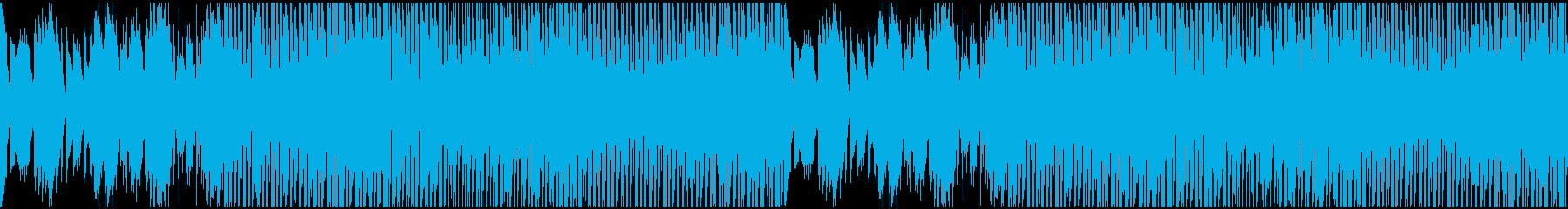 可愛いエレクトリックなループ仕様の曲の再生済みの波形