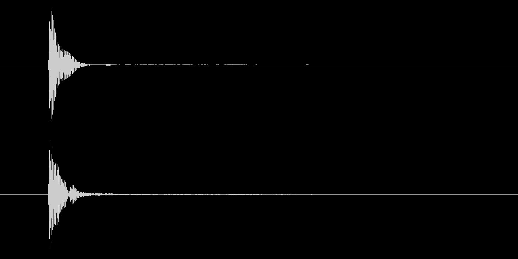ポン(カーソル・入力・決定・システム音)の未再生の波形