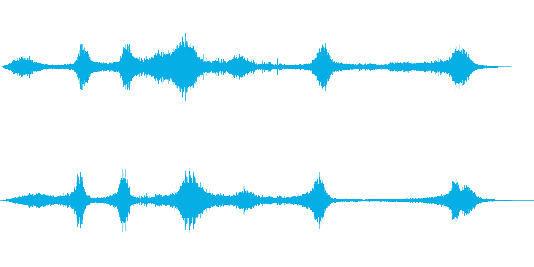 【生録音】 早朝の街 交通 環境音 14の再生済みの波形