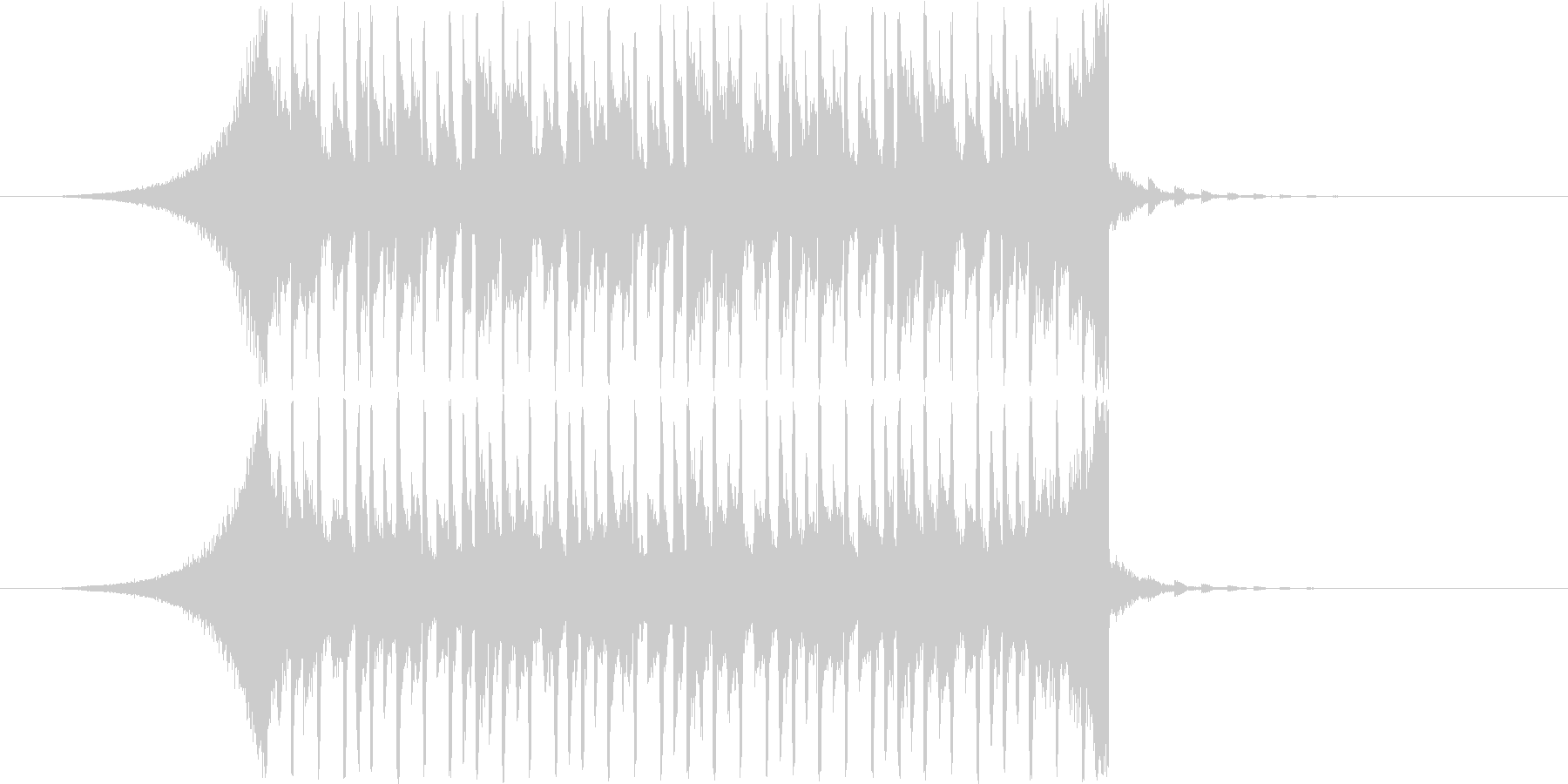 【爽やか】爽快でハッピーな雰囲気のBGMの未再生の波形