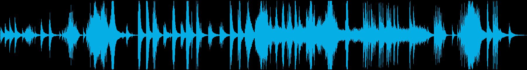 しとやかで優美な和風BGMの再生済みの波形