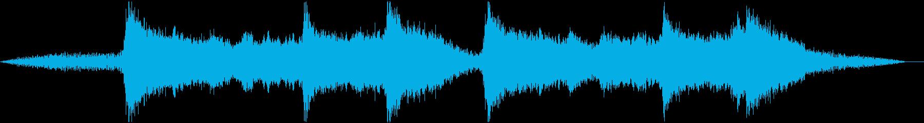 日本の伝統音楽っぽいBGMの再生済みの波形