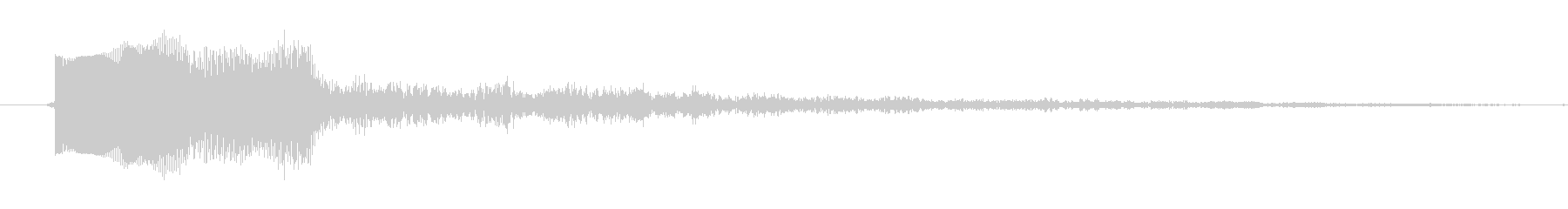 ティロンというシステム音の未再生の波形