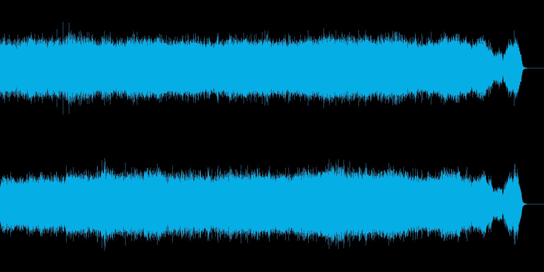 キーン!!工事の環境音の再生済みの波形