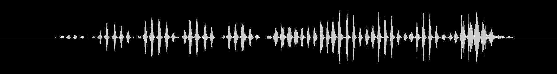 特撮 デジタルラトル01の未再生の波形