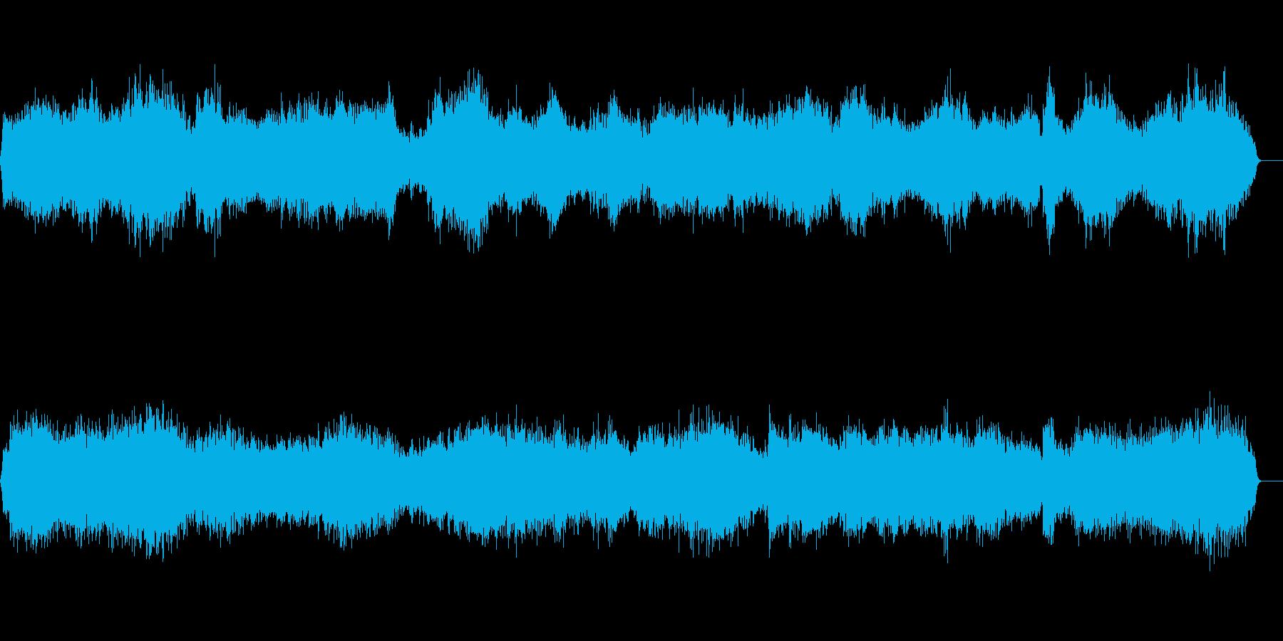 合戦・剣戟・戦闘・格闘・乱闘の声の再生済みの波形