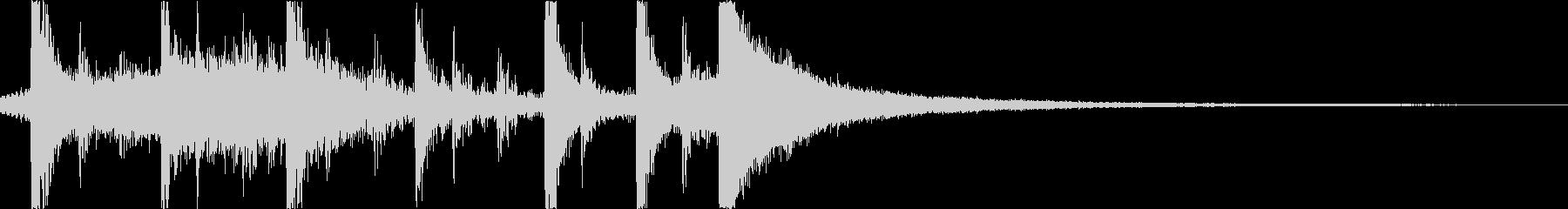 生ドラムメインのシンプルなジングルの未再生の波形