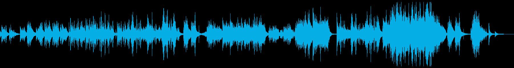 ピアノのアンビエント 夜明け前 静かな時の再生済みの波形