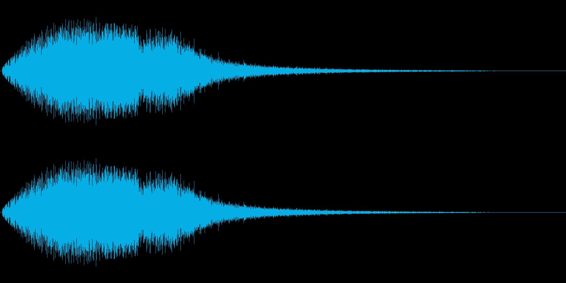 キラキラ系(変調あり)の再生済みの波形