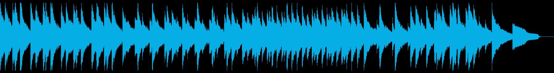 ゆったりとした重厚で力強いピアノ曲の再生済みの波形