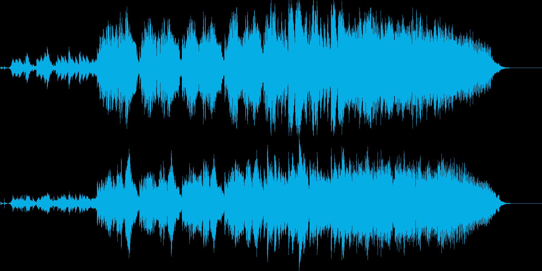 南の島の神秘的な滝のヒーリング曲の再生済みの波形