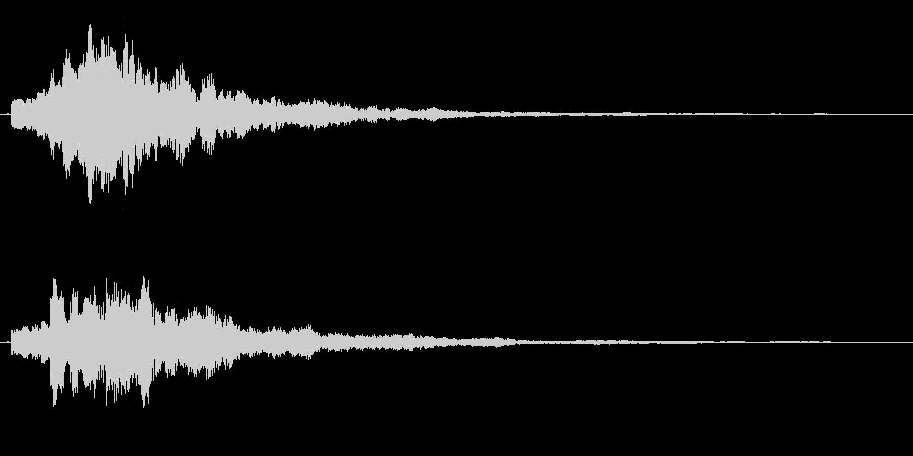 爽やかなギターサウンドロゴの未再生の波形
