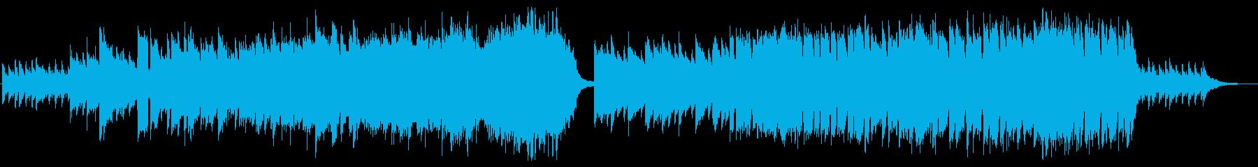 ピアノイントロから始まる希望に満ちた曲Bの再生済みの波形
