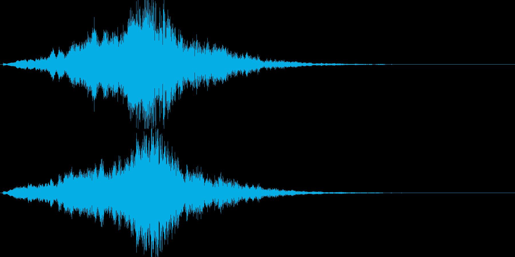 映画・映像用サウンドロゴ002の再生済みの波形