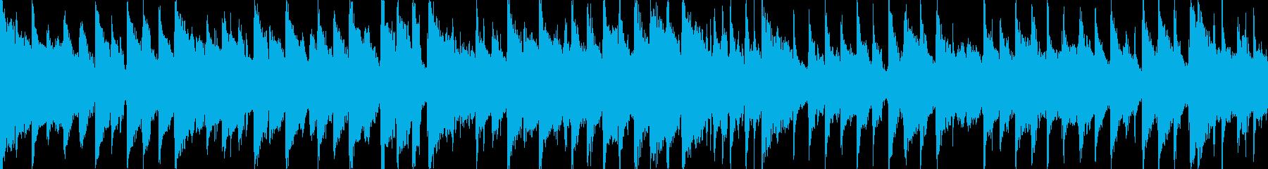 ピアノ、グロッケンシュピール、アコ...の再生済みの波形