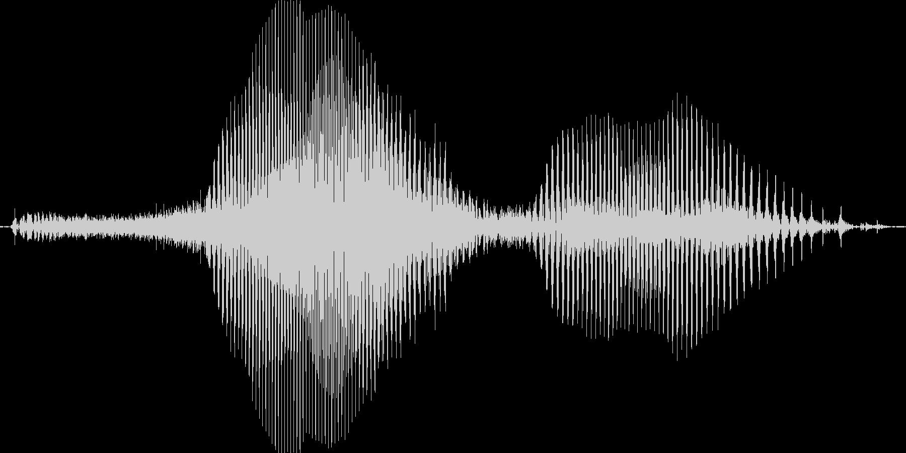 ふむふむの未再生の波形