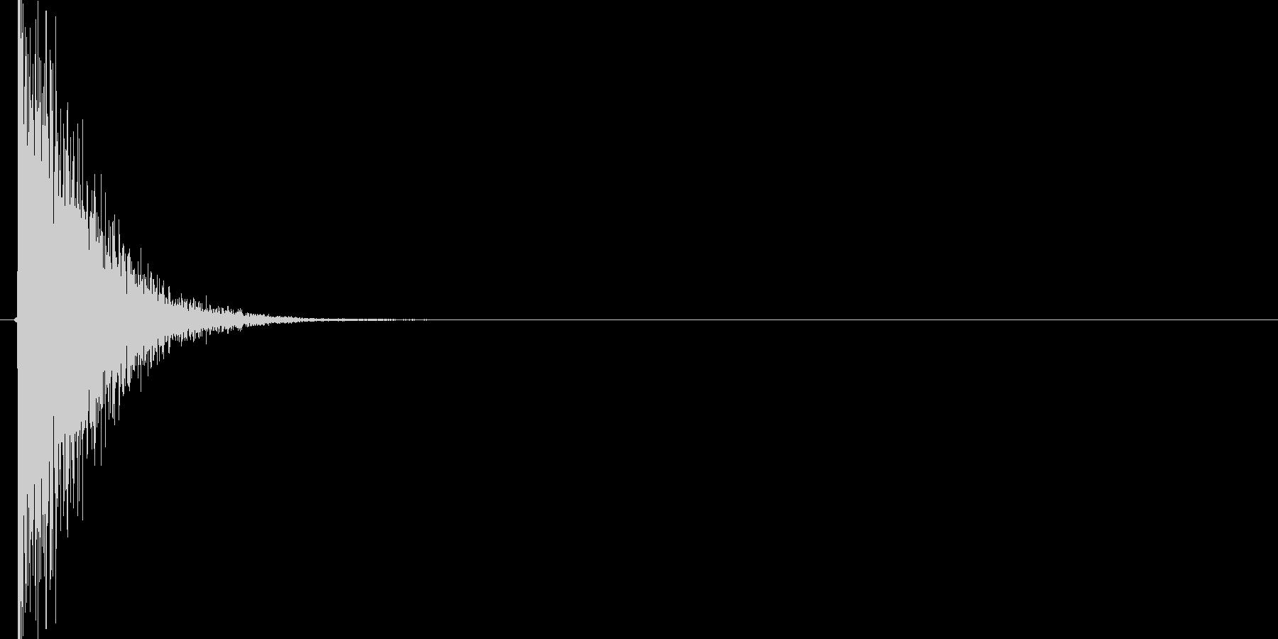 バーン(衝撃、叩きつける、格闘ゲーム)の未再生の波形