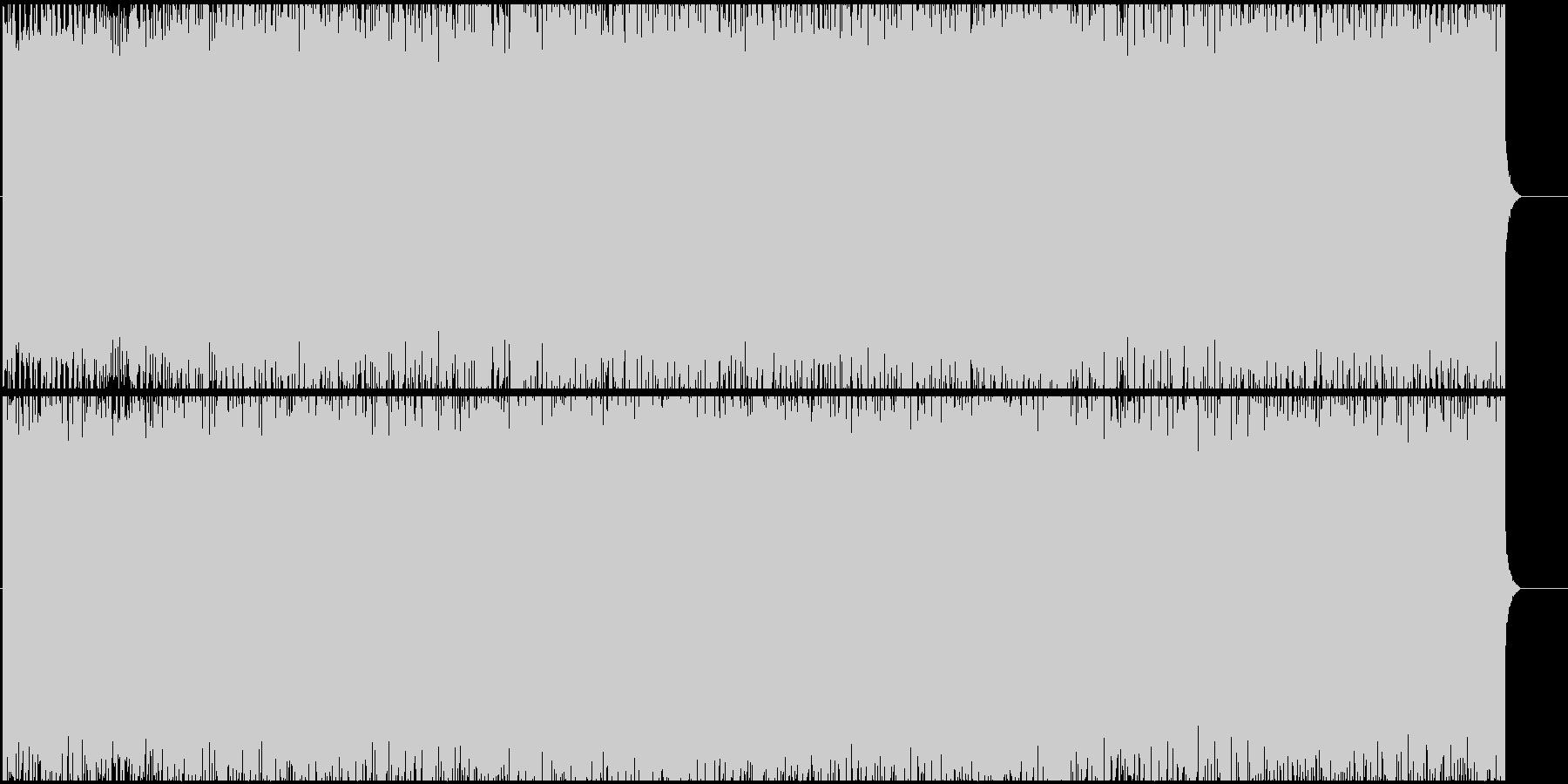 エキサイティングで疾走感のあるBGMの未再生の波形