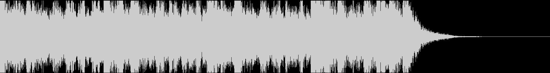 恐怖場面のオーケストラジングル(15秒)の未再生の波形