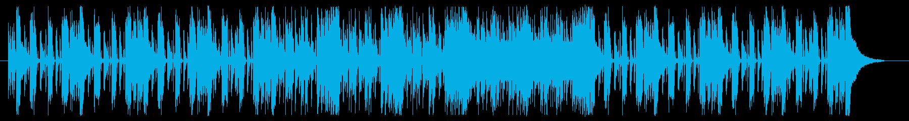 ROCKバンド_シンプルギターリフ楽曲の再生済みの波形