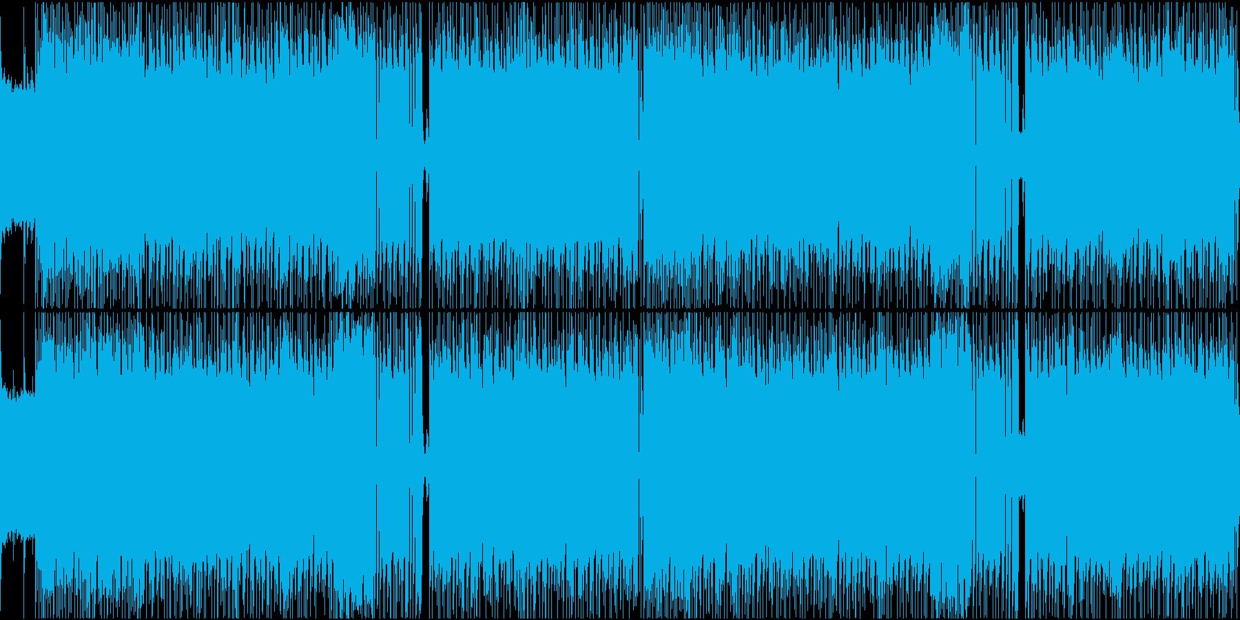 シンプルで熱い疾走感のあるロックループの再生済みの波形