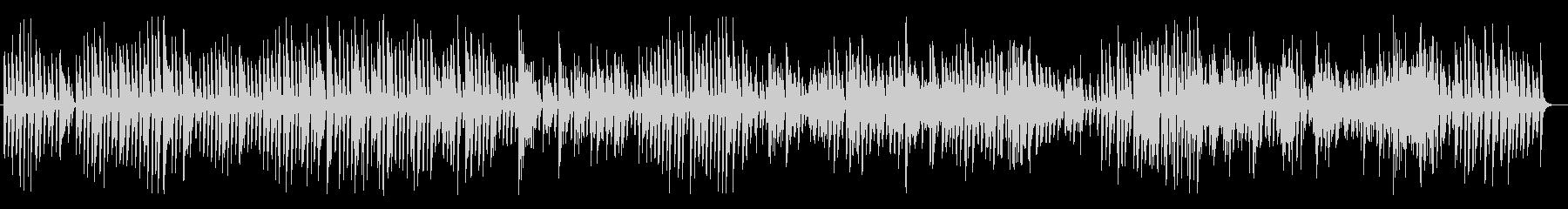 レトロでほのぼのとしたジャズピアノBGMの未再生の波形