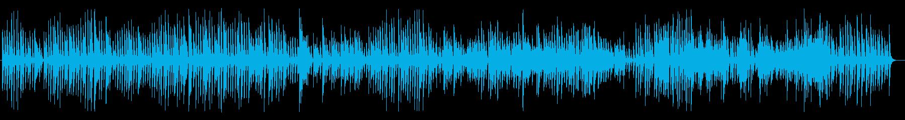 レトロでほのぼのとしたジャズピアノBGMの再生済みの波形