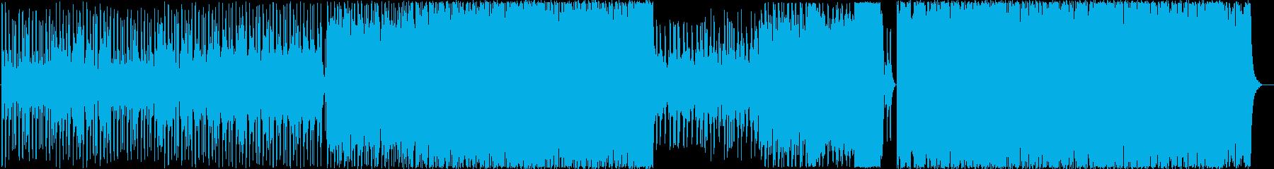 和太鼓、和楽器などを使った重厚な楽曲の再生済みの波形