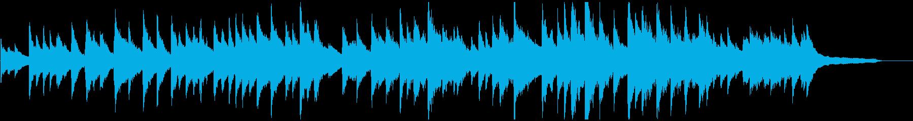 童謡「お正月」のピアノソロアレンジの再生済みの波形
