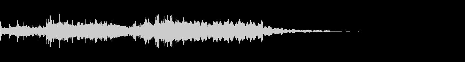 琴・尺八・和風ジングルの未再生の波形