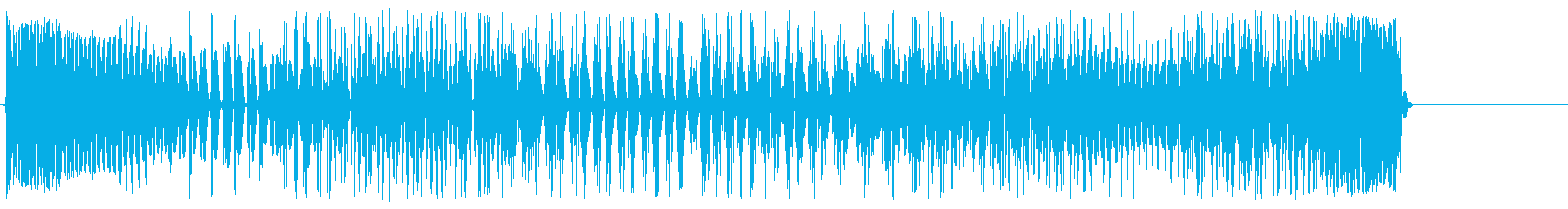 衝撃波のような空気が震える音の再生済みの波形