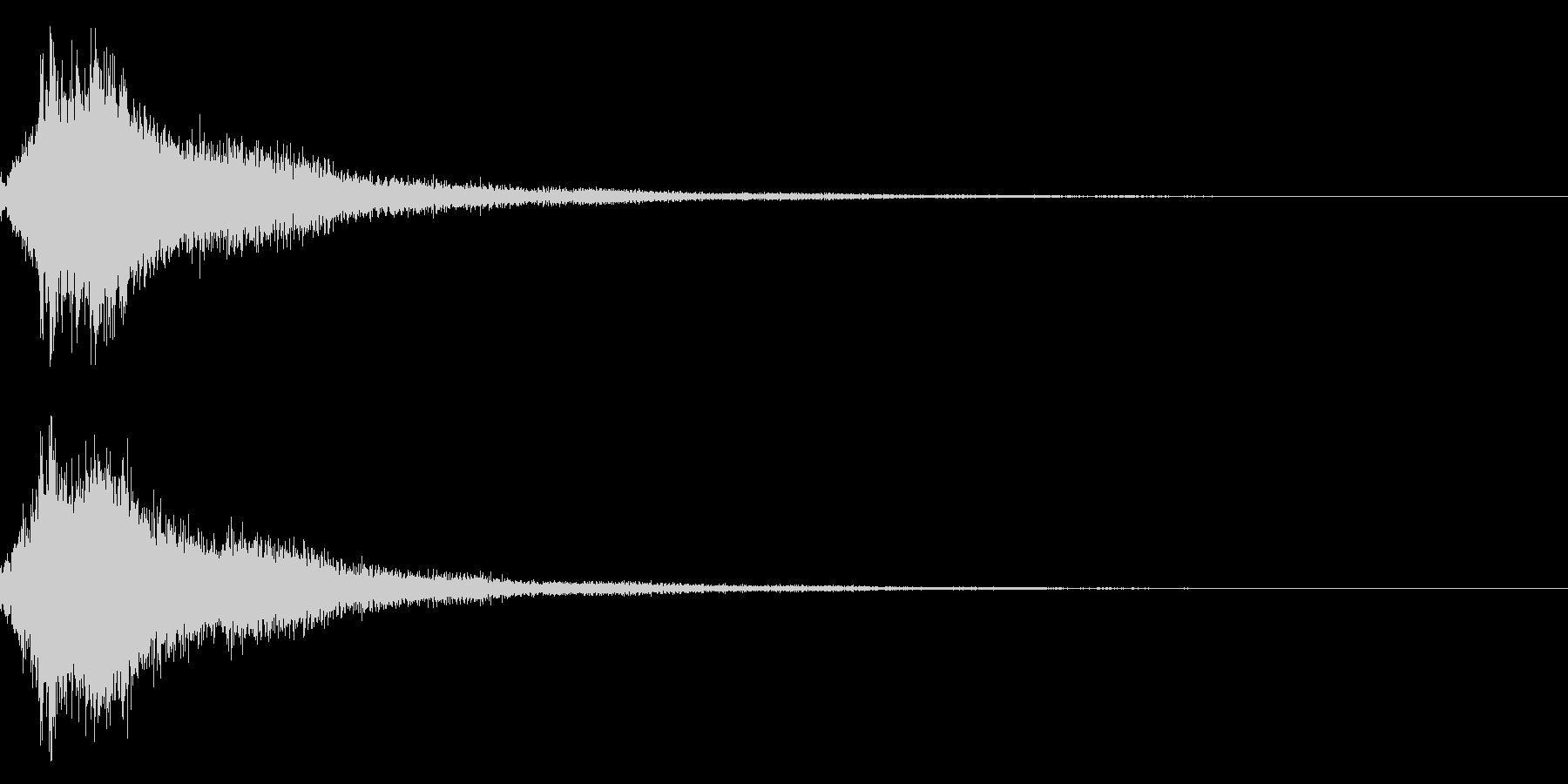 琴と刀の【シャキーン!】和風ロゴ 11の未再生の波形