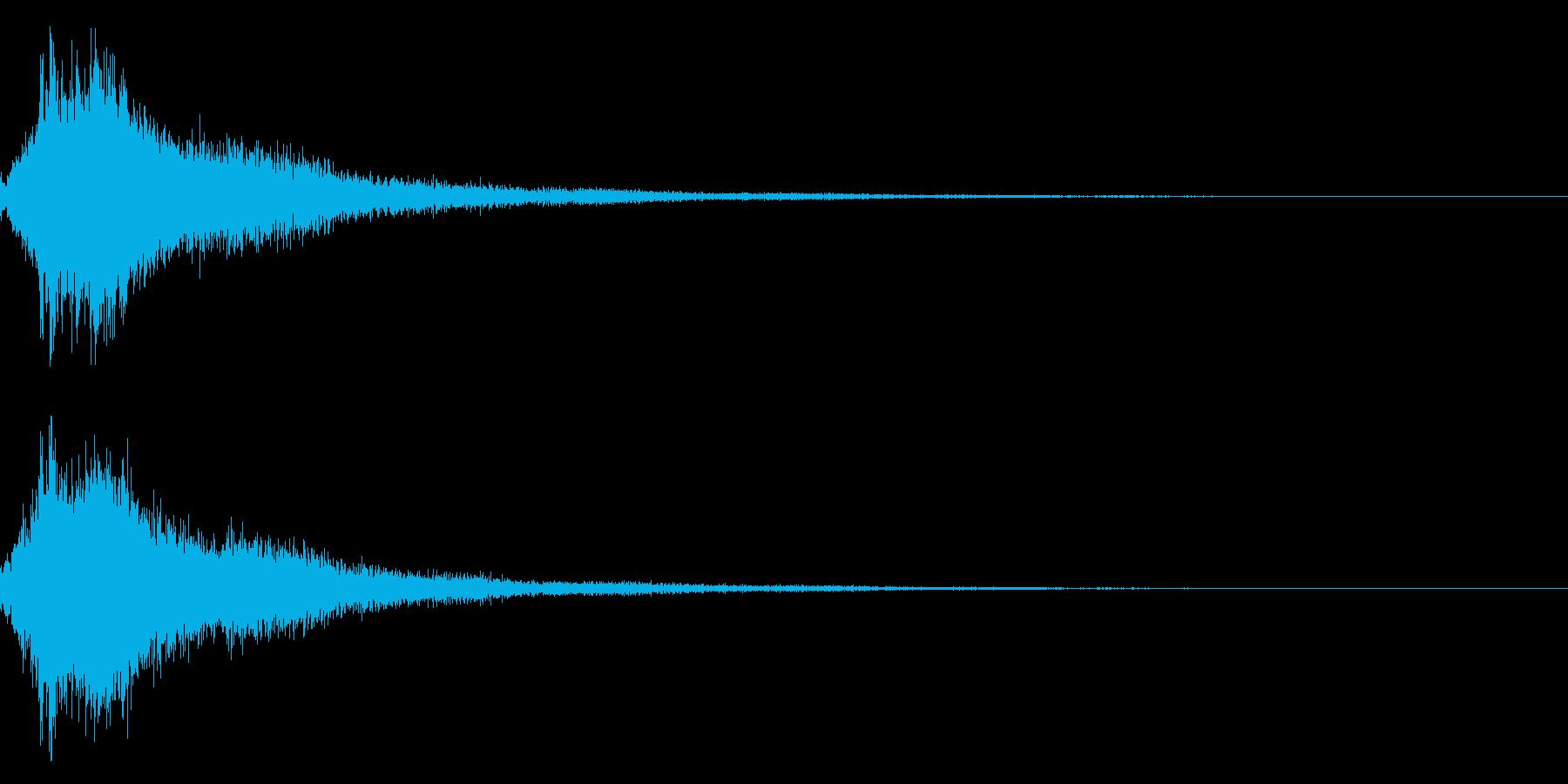琴と刀の【シャキーン!】和風ロゴ 11の再生済みの波形
