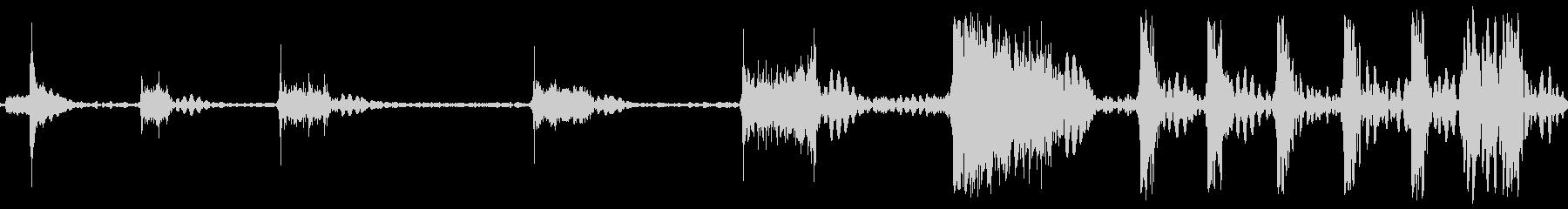 ロケットアフターバーナー火炎sの未再生の波形