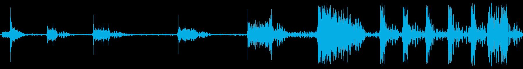 ロケットアフターバーナー火炎sの再生済みの波形