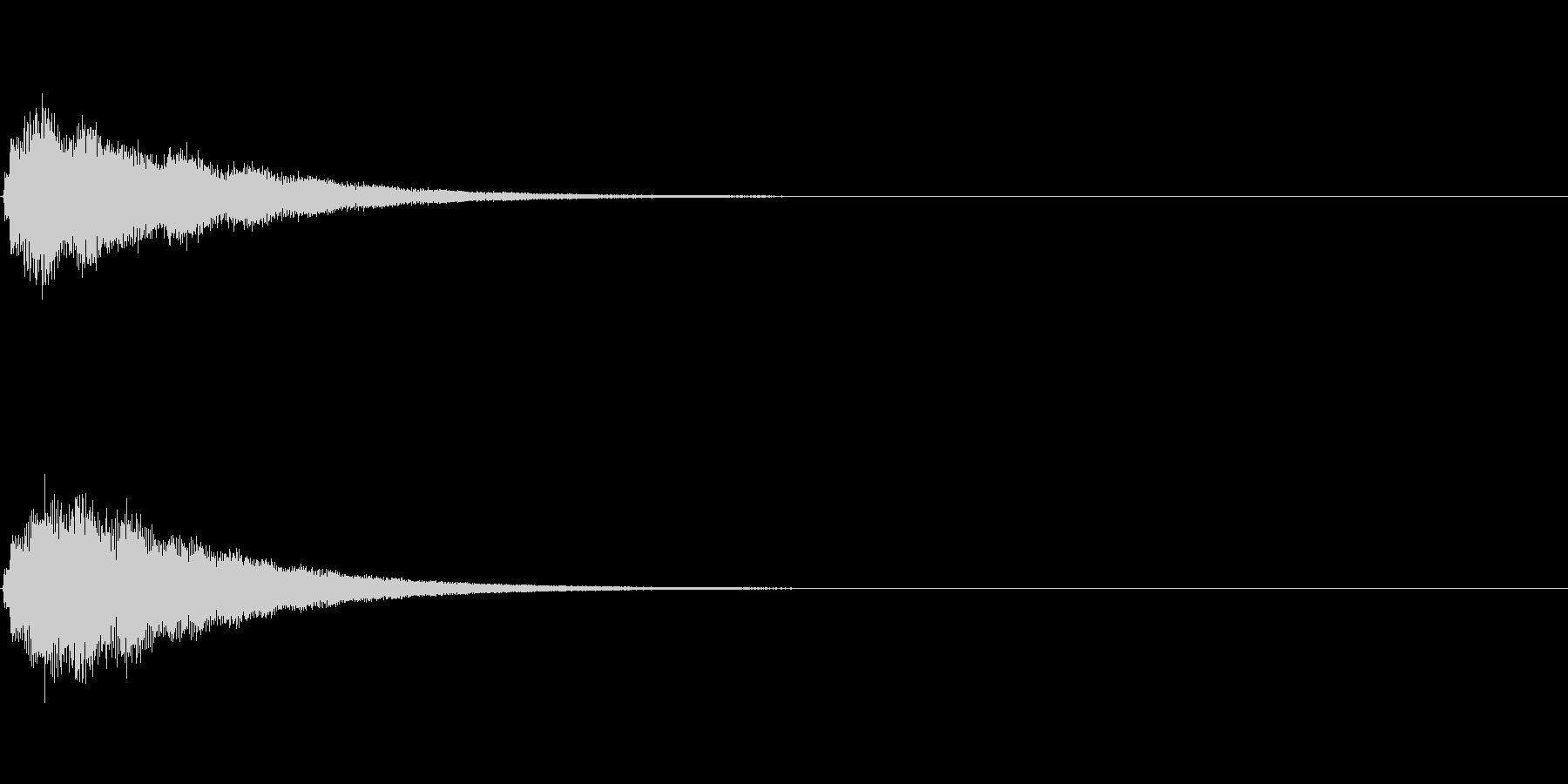 テロップの音・決定音・シャランランーンの未再生の波形