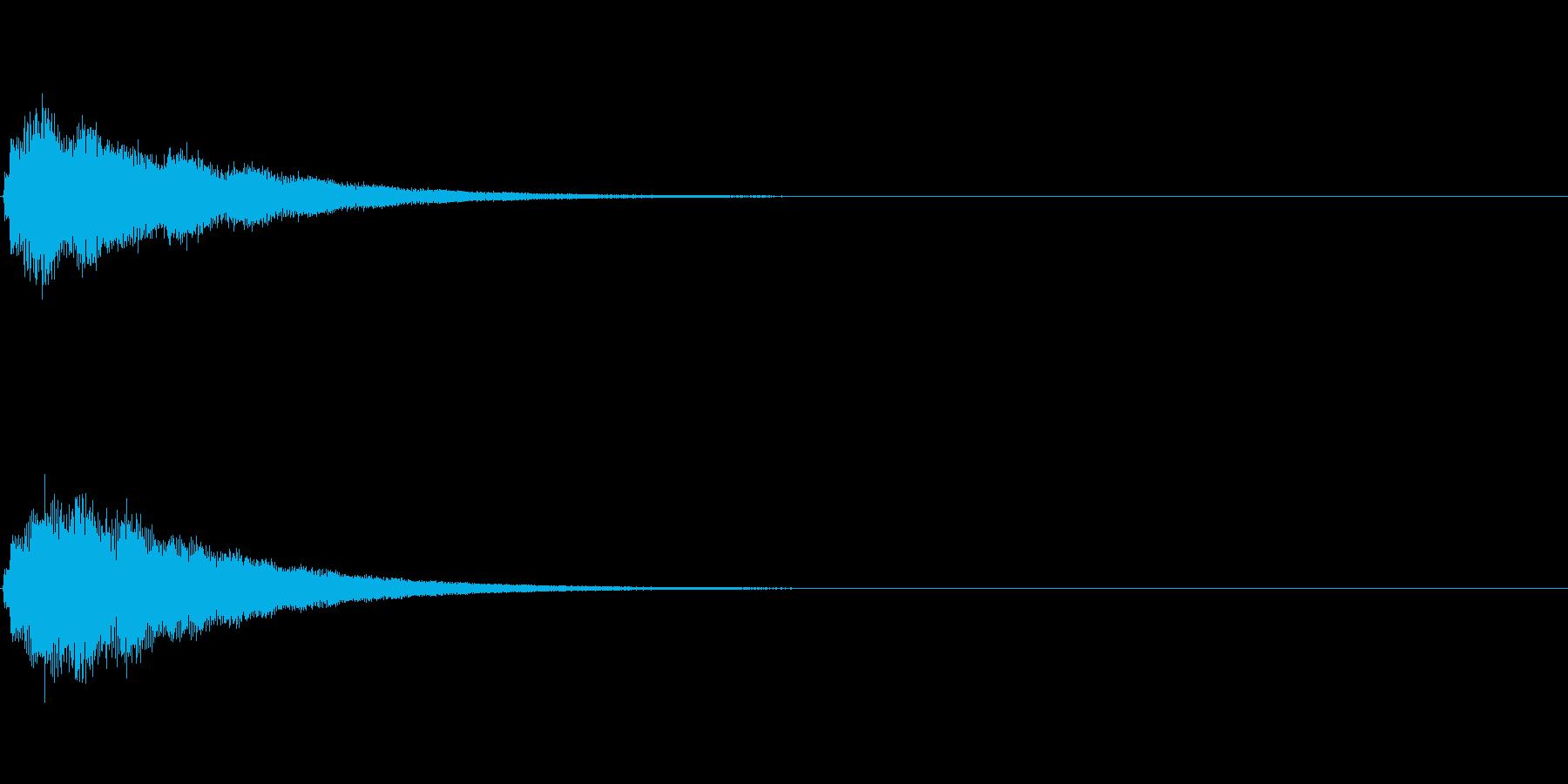テロップの音・決定音・シャランランーンの再生済みの波形