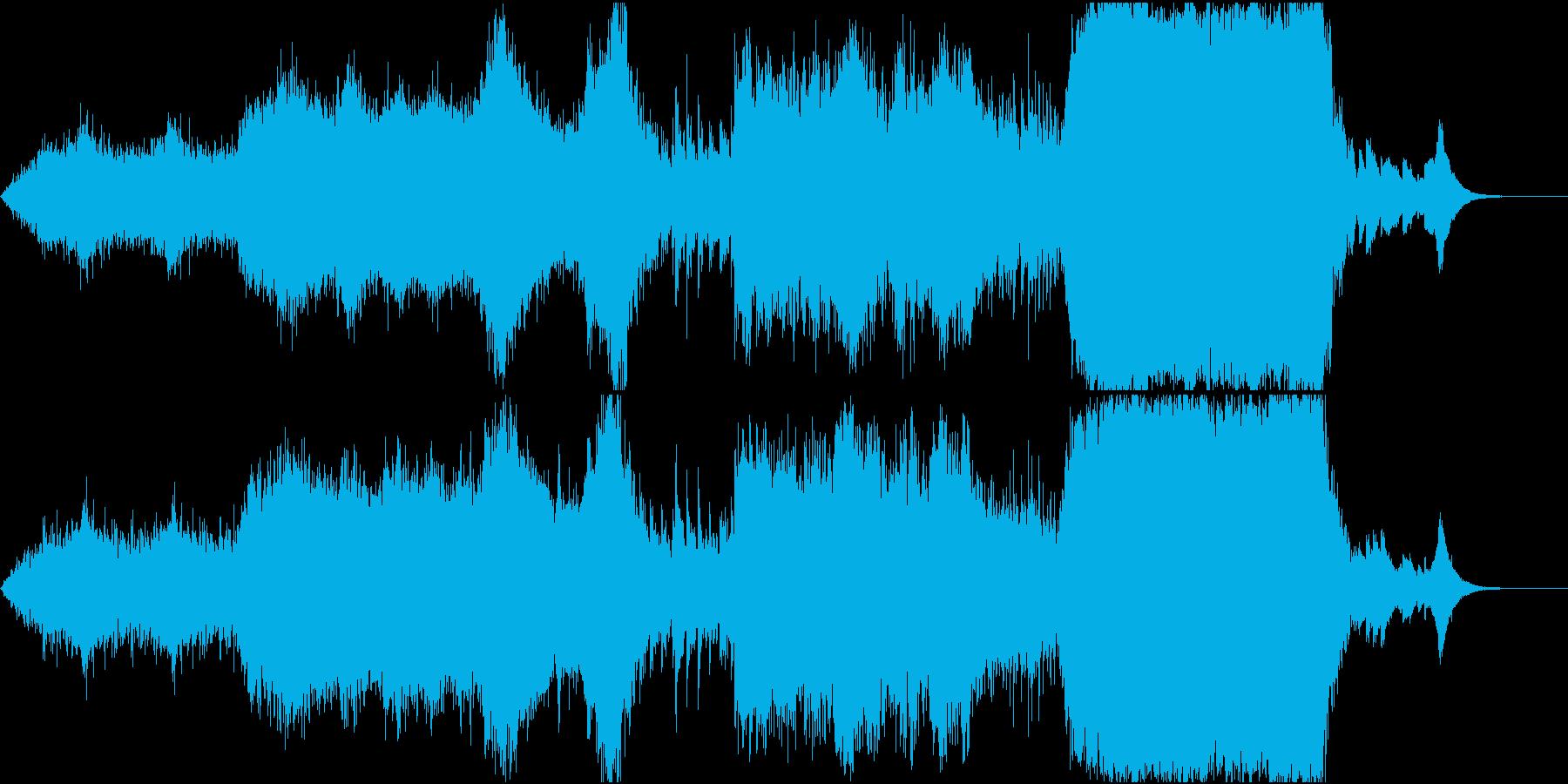 空気感のある音響的なホラーなオーケストラの再生済みの波形